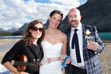 hired to play at a wedding in Banff National Park